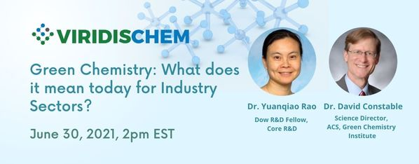 """Featured image for """"Webinar1: Green Chemistry, what does it mean today for industry sectors"""""""